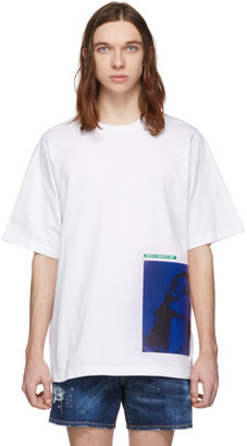 DSQUARED2 White Mert and Marcus 1994 Edition Dyed Slouch Fit T-Shirt