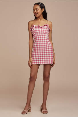 Finders Keepers GIGI MINI DRESS fuschia check