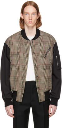 Stella McCartney Black and Beige Contrast Bomber Jacket