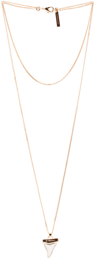 Givenchy Mini Shark Tooth Necklace in Rose Gold