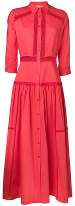 Ermanno Scervino tiered maxi shirt dress