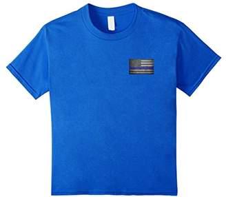 Thin Line Back The Police USA Flag Logo T-Shirt