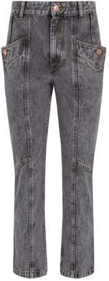 Etoile Isabel Marant Notty Panel Straight-Leg Jeans