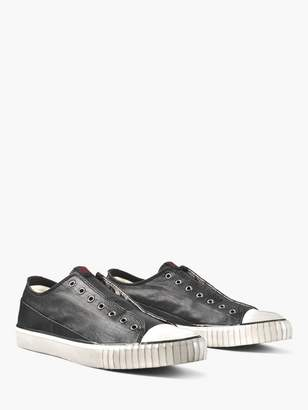 John Varvatos Coated Linen Low Top
