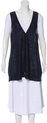 Eileen Fisher Button-Up Knit Vest