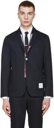 Thom Browne Navy Twill Blazer $1,200 thestylecure.com