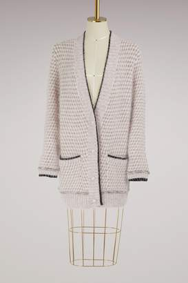 Lanvin Angora long cardigan