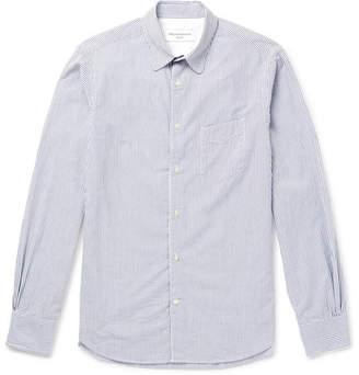 Officine Generale Benoit Slim-Fit Striped Cotton-Seersucker Shirt