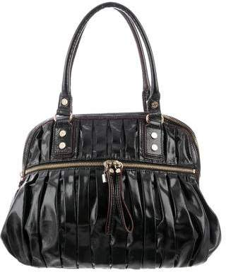 MZ Wallace Leather-Trimmed Pleated Nylon Bag