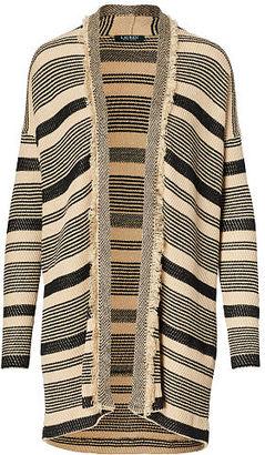 Ralph Lauren Striped Open-Front Cardigan $165 thestylecure.com
