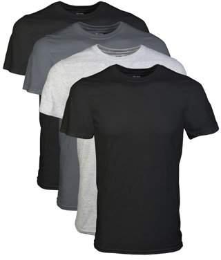Gildan Big Men's 2XL Short Sleeve Crew Assorted Color T-Shirt, 4-Pack