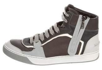 Lanvin Zip Accent High-Top Sneakers
