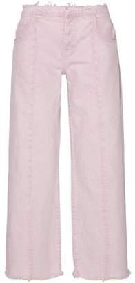 Current/Elliott The Vintage Frayed Mid-Rise Wide-Leg Jeans