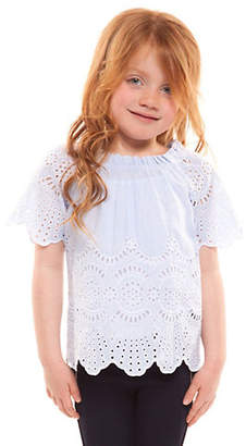 Dex Little Girl's Embroidered Scalloped Top