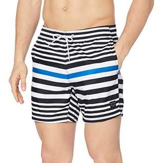 79f97e12310 Trunks Blend Men's Swimwear Swim Trunks, (Dark Navy Blue 74645), Medium