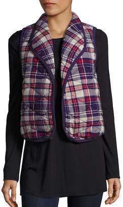 BCBGeneration Women's Quilted Plaid Vest