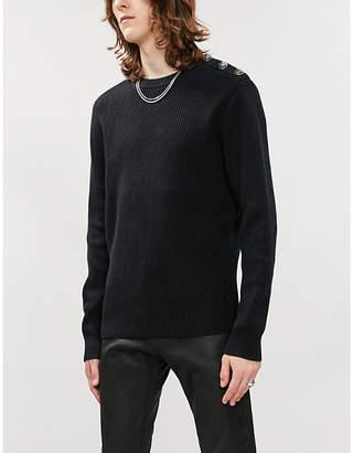 The Kooples Button trim cotton-knit jumper