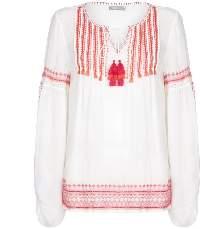 P K Berry - Cream Amanda Top - S3 - White/Red