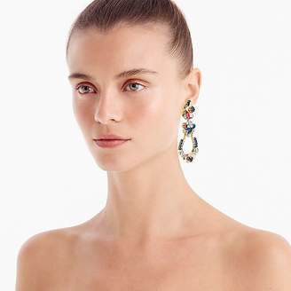 J.Crew Crystal and flower earrings