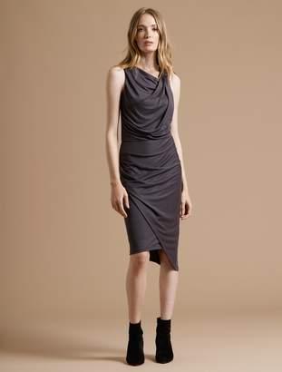 Halston Peached Knit Draped Dress