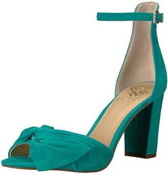 Vince Camuto Women's CARRELEN Heeled Sandal, Silver/Grey, 6.5 M US