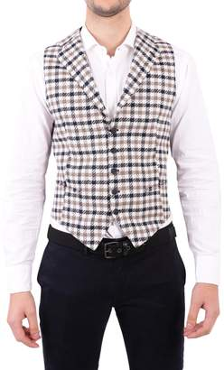 Tagliatore Linen And Cotton Vest