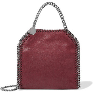 Stella McCartney - The Falabella Tiny Faux Brushed-leather Shoulder Bag - Burgundy $655 thestylecure.com