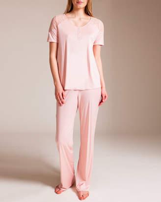 Hanro Fleur Short Sleeve Pajama