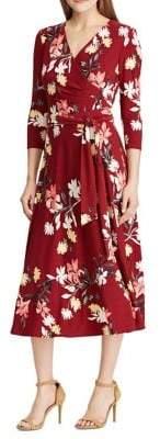 Lauren Ralph Lauren Floral Self-Tie Dress