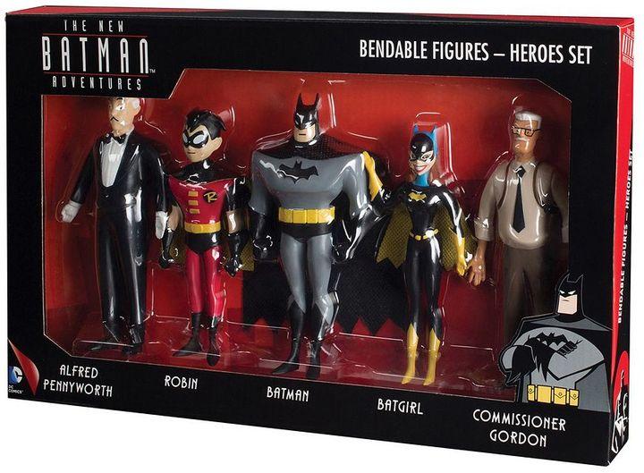 Toysmith DC Comics New Batman Adventures Bendable Action Figure Boxed Set by Toysmith