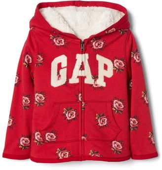 Gap Cozy print logo zip hoodie
