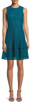 MICHAEL Michael Kors Lace Double-Flounce Sleeveless Dress