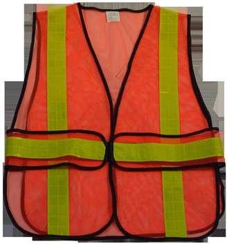 Petra Roc OVM-HGCSA 2 in. Orange Mesh Vest Yellow High Gloss Tape, X On Back, Universal Size with Adjustable Sides