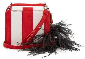 Marques Almeida MARQUES'ALMEIDA Feather strap striped leather cross-body bag