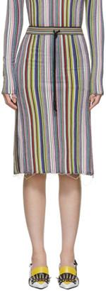 Marques Almeida Multicolor Wool Straight Skirt