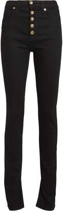 Veronica Beard Debbie Skinny Slit Hem Jeans