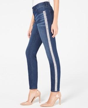 INC International Concepts I.n.c. Embellished-Stripe Skinny Jeans, Created for Macy's