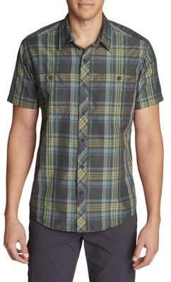 Eddie Bauer Greenpoint Plaid Short-Sleeve Shirt