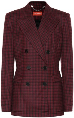 Altuzarra Ria checked stretch-wool blazer