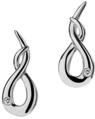 Hot Diamonds Curl Silver And Diamond Earrings
