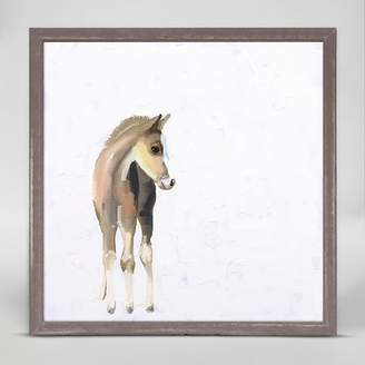 Oopsy Daisy Fine Art For Kids Baby Horse by Cathy Walters Mini Canvas Framed Art