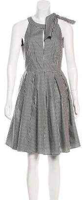Blugirl Plaid Knee-Length Dress
