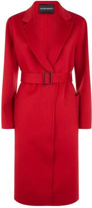 Emporio Armani Belted Cashmere Coat
