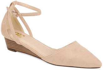 Journee Collection Womens Jc Arkie Pumps Buckle Pointed Toe Wedge Heel