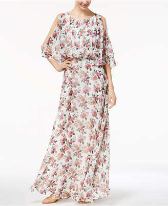 Marella Split-Sleeve Georgette Maxi Dress