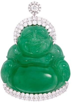 LC Collection Jade Diamond jade 18k white gold Buddha pendant