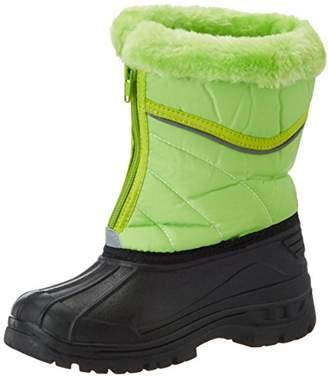 Playshoes Unisex Kids' Winterstiefel mit Warmfutter, Reißverschluss Snow Boots, (Green), 7.5 Child UK 24/25 EU