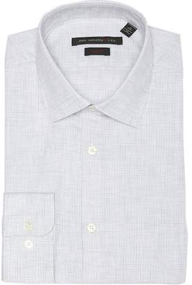 John Varvatos Heathered Slim Fit Dress Shirt