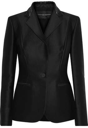 Carolina Herrera Bead-Embellished Cotton And Silk-Blend Blazer