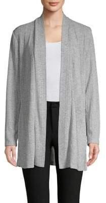 Nipon Boutique Open-Collar Knit Cardigan